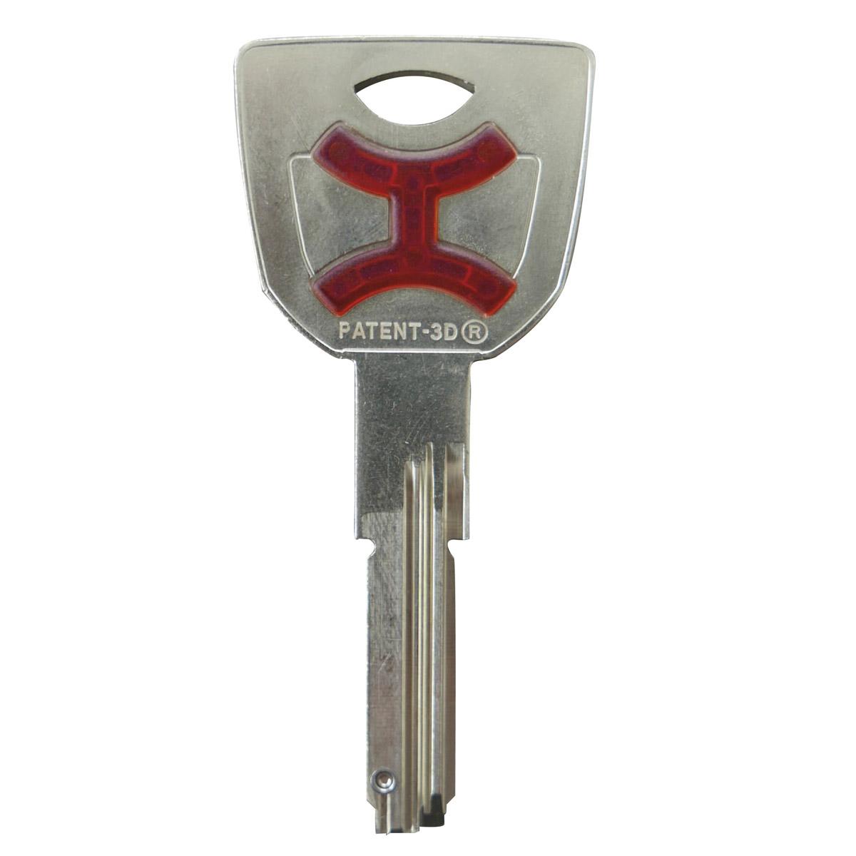 chiave con inserto plastico per personalizzazione