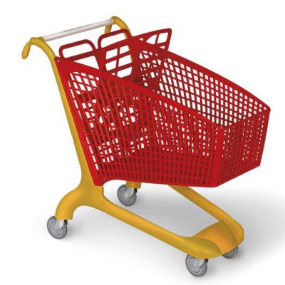 carrello spesa per grande distribuzione